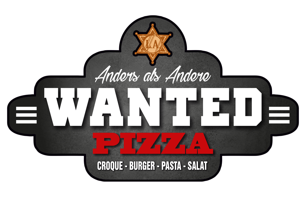 WANTED Pizza Logo