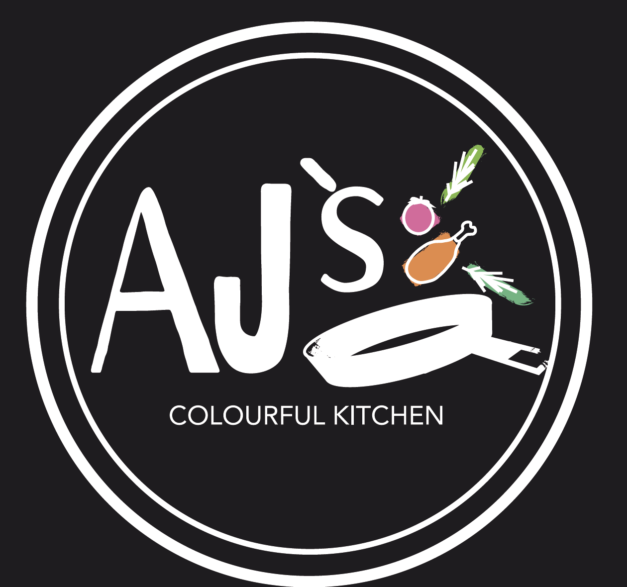 AJ´ s Colourful Kitchen  Logo